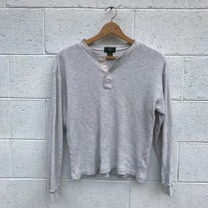 Club Room Sweaters - Vintage Gray Thermal 100% Cotton Sweater